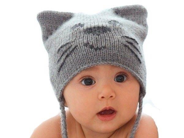 Фото детские шапки спицами 002