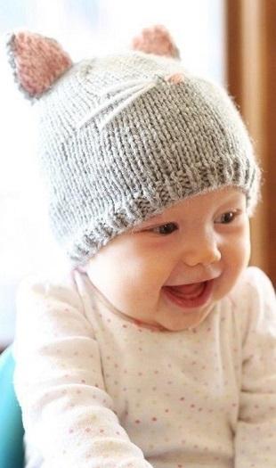 Фото детские шапки спицами 003