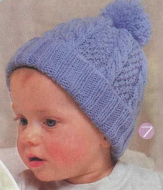 Фото детские шапки спицами 004