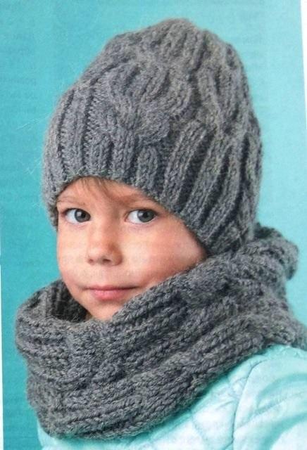 Фото детские шапки спицами 007