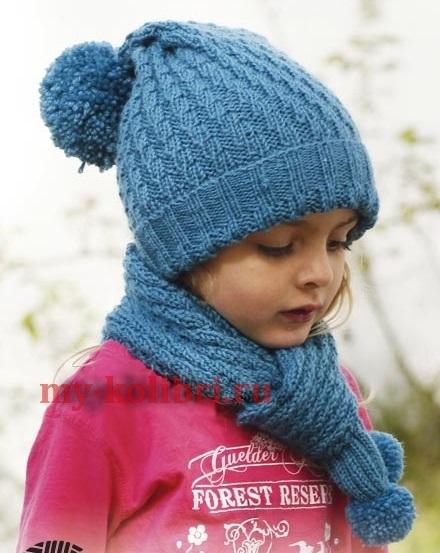 Фото детские шапки спицами 010