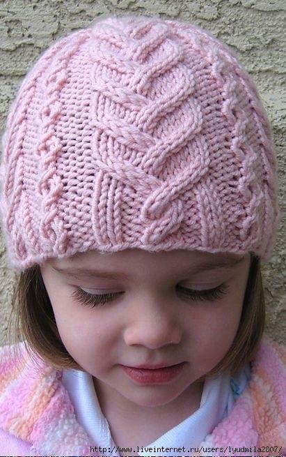 Фото детские шапки спицами 011