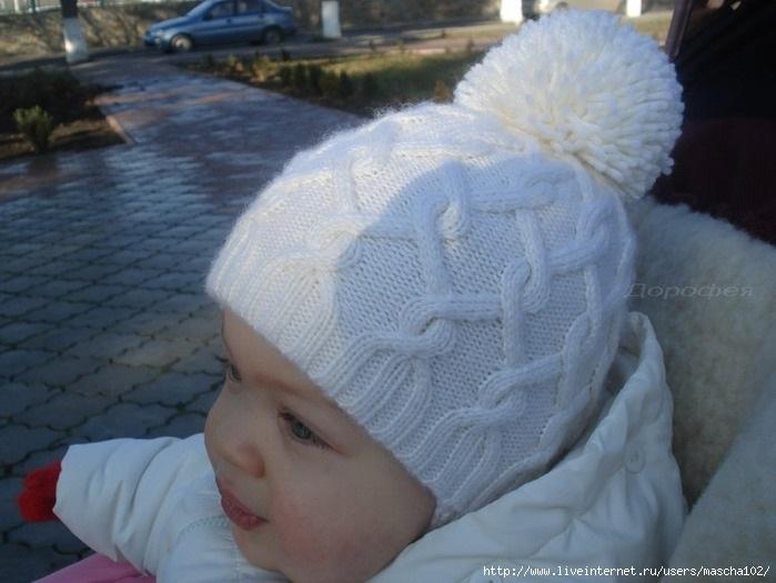 Фото детские шапки спицами 013