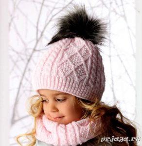 Фото детские шапки спицами 014