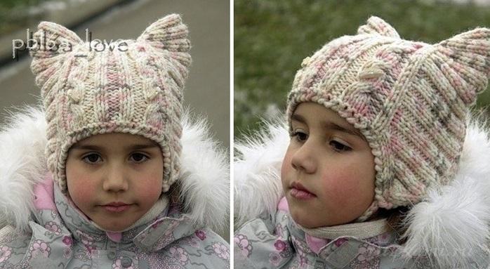 Фото детские шапки спицами 016