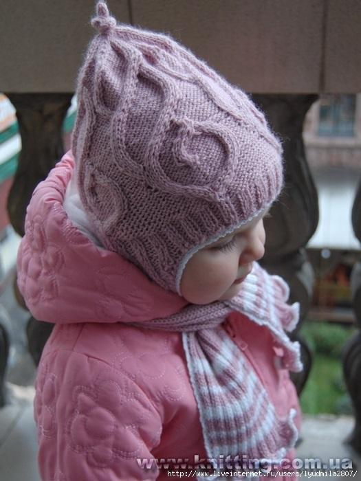 Фото детские шапки спицами 018
