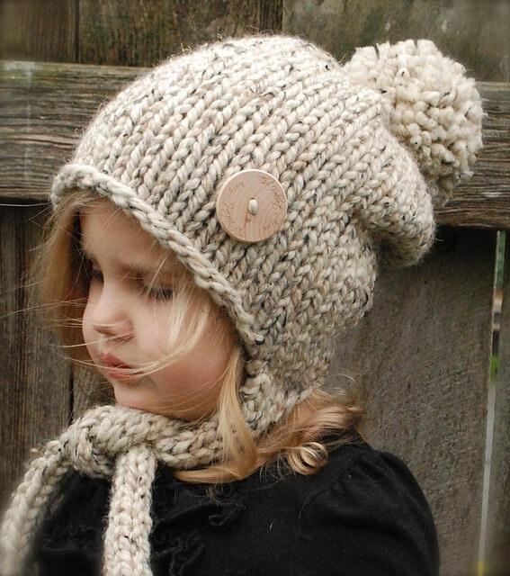 Фото детские шапки спицами 019