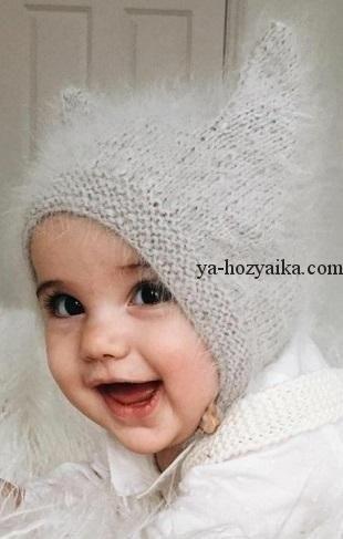 Фото детские шапки с ушками 003