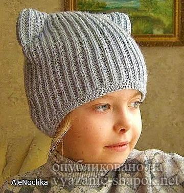 Фото детские шапки с ушками 008