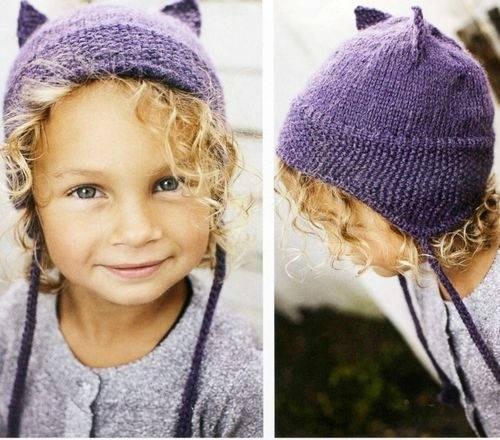Фото детские шапки с ушками 009