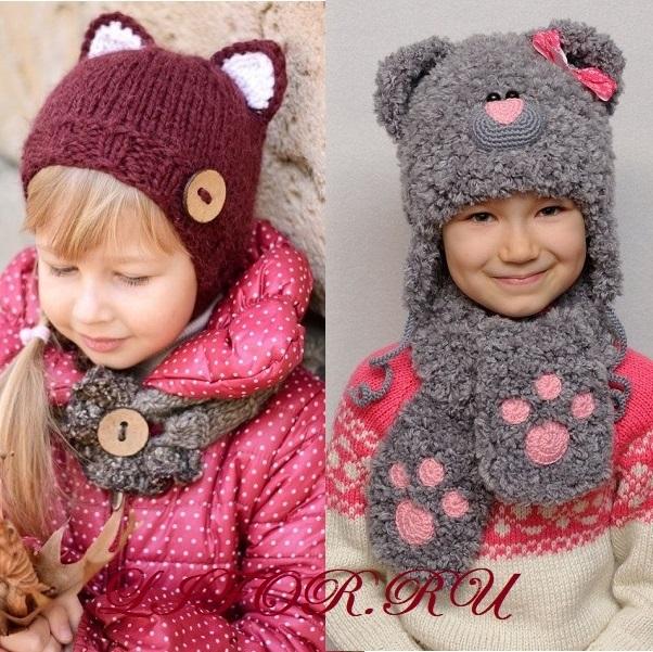 Фото детские шапки с ушками 016