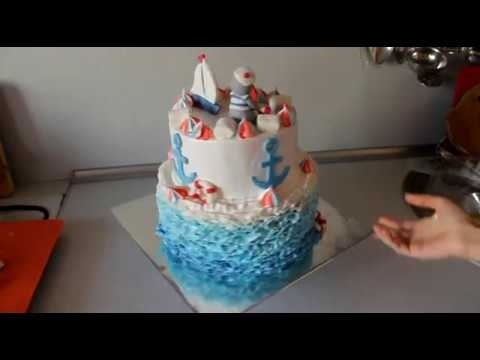 Фото детский торт в морском стиле 001