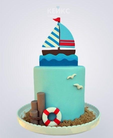 Фото детский торт в морском стиле 002