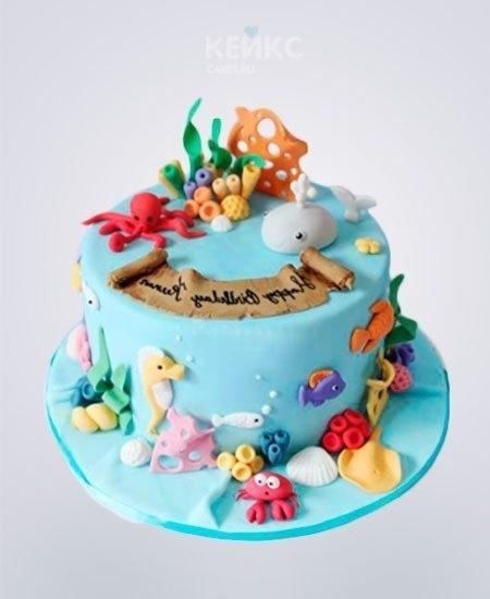 Фото детский торт в морском стиле 004
