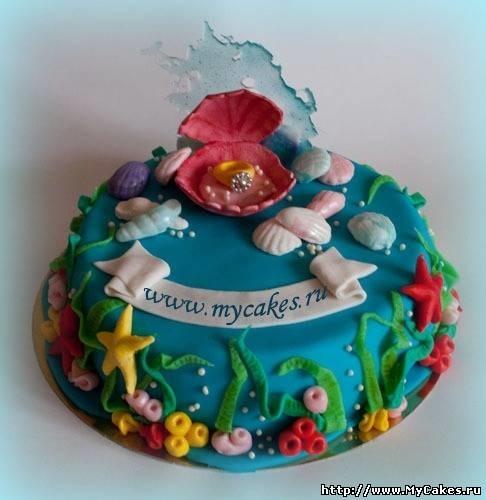 Фото детский торт в морском стиле 008