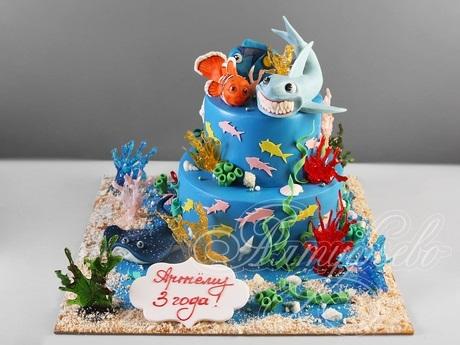 Фото детский торт в морском стиле 009