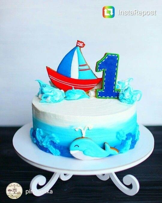 Фото детский торт в морском стиле 010