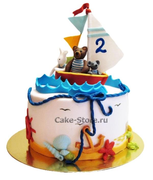 Фото детский торт в морском стиле 011