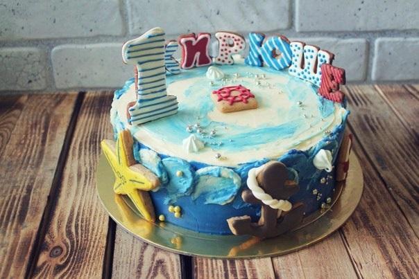 Фото детский торт в морском стиле 012