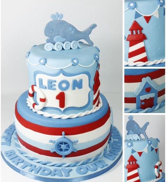 Фото детский торт в морском стиле 013