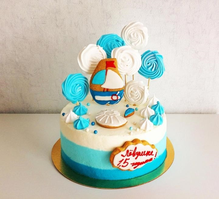 Фото детский торт в морском стиле 014