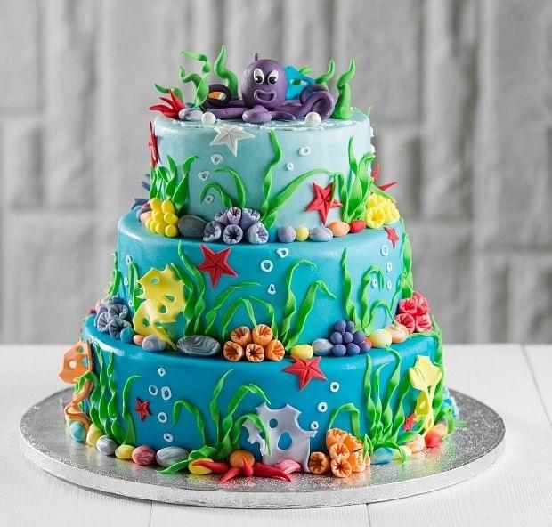 Фото детский торт в морском стиле 017