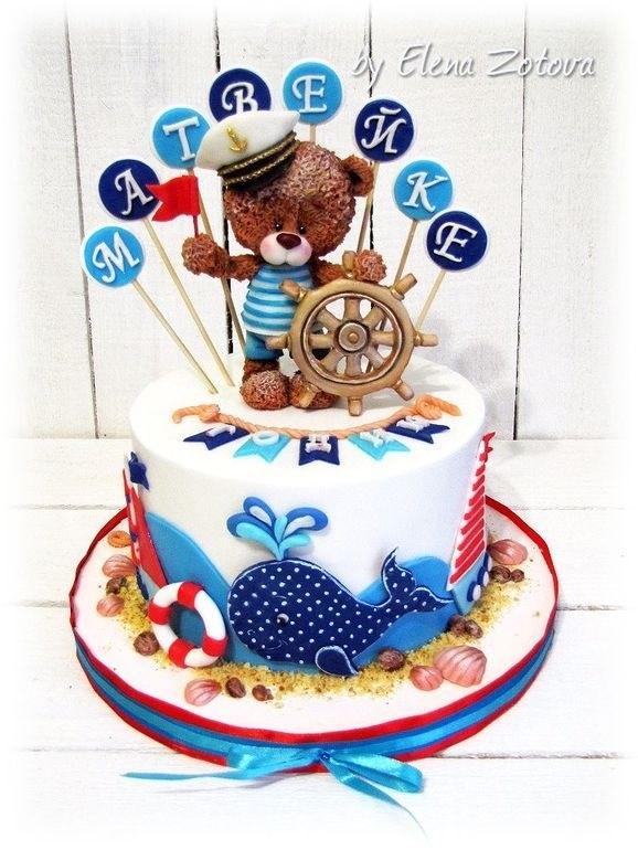 Фото детский торт в морском стиле 018