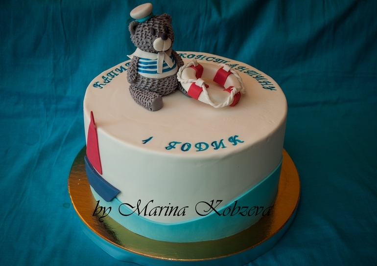 Фото детский торт в морском стиле 019