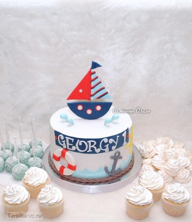 Фото детский торт в морском стиле 021