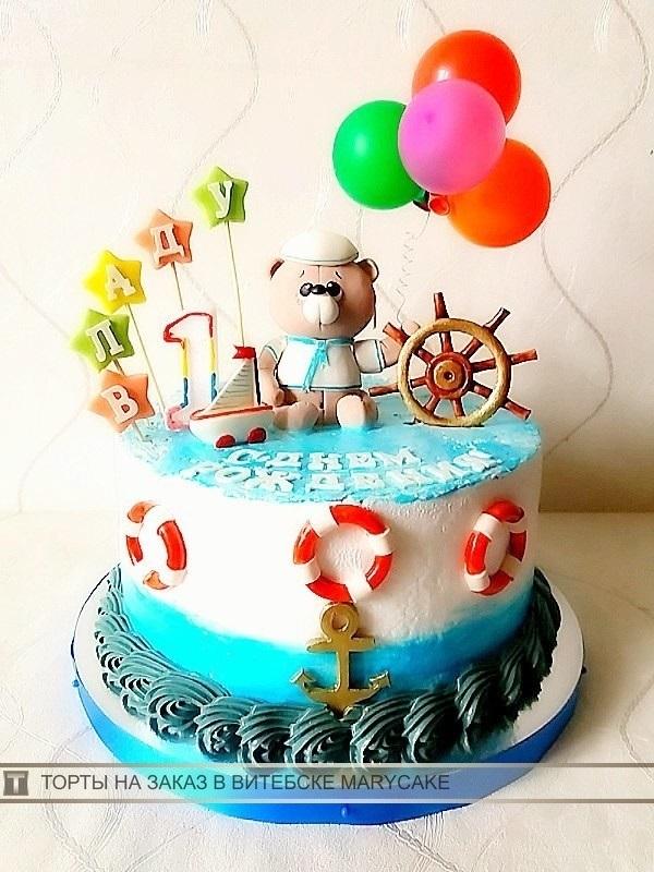 Фото детский торт в морском стиле 022