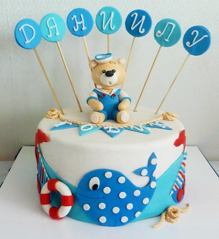 Фото детский торт в морском стиле 023