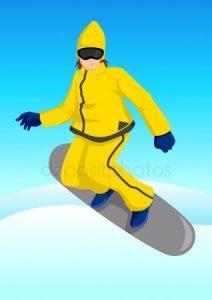 Фото карикатура сноубордиста 27 55 003