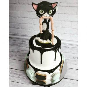 Фото торты с кошками из мастики 009