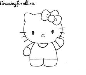 Хеллоу китти рисунки для детей 011