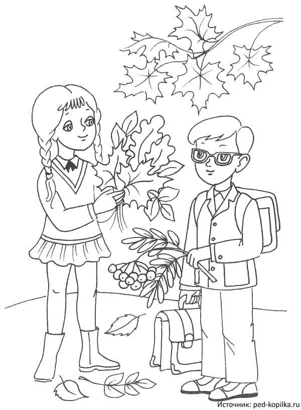 Черно белые картинки на тему осень для детей (12)