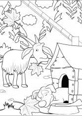 Черно белые картинки на тему осень для детей (14)