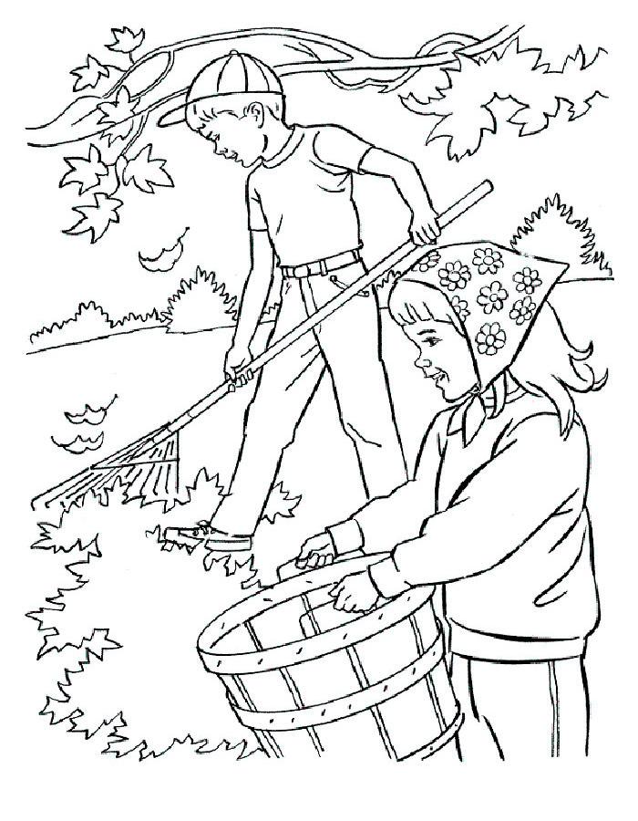 Черно белые картинки на тему осень для детей (25)