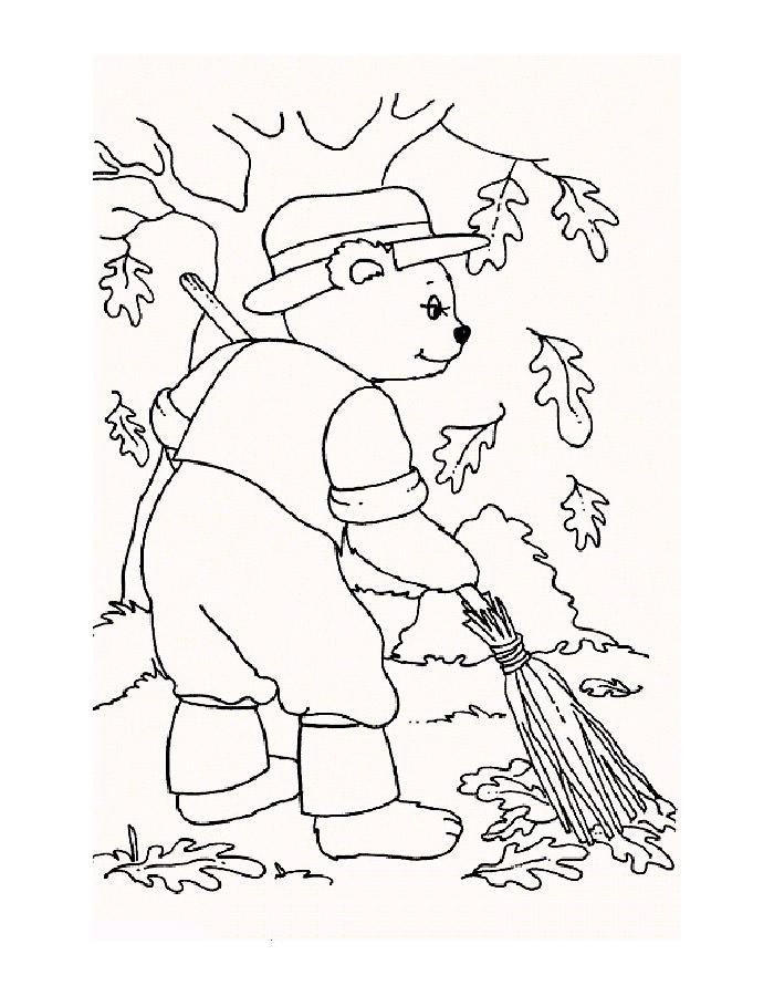 Черно белые картинки на тему осень для детей (28)