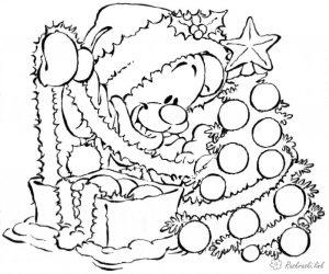 Черно белые картинки на тему осень для детей (32)