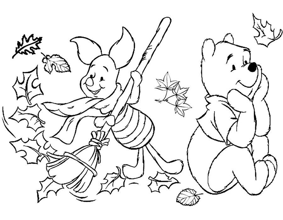 Черно белые картинки на тему осень для детей (33)