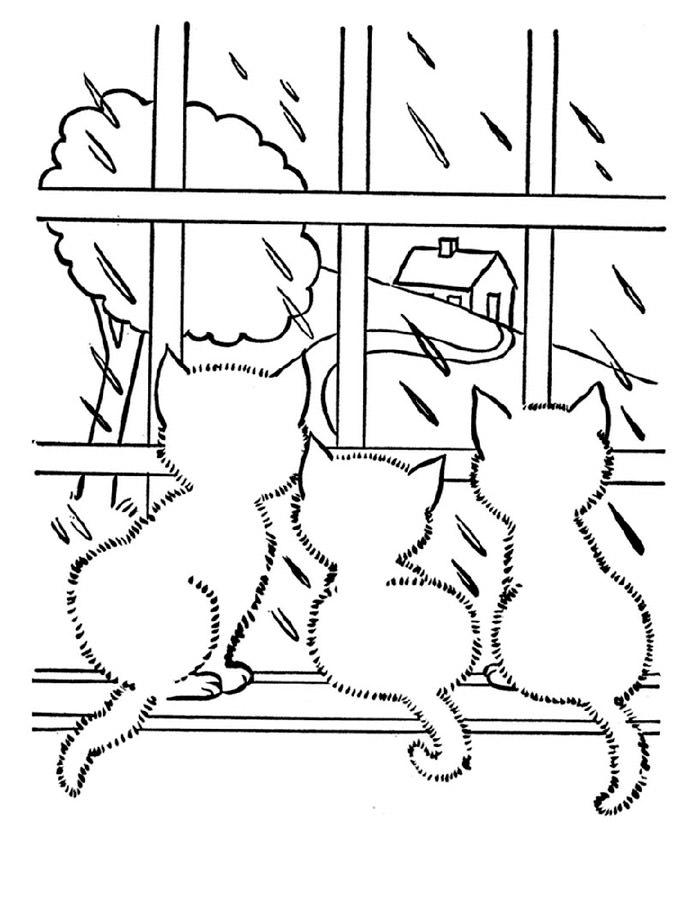 Черно белые картинки на тему осень для детей (6)