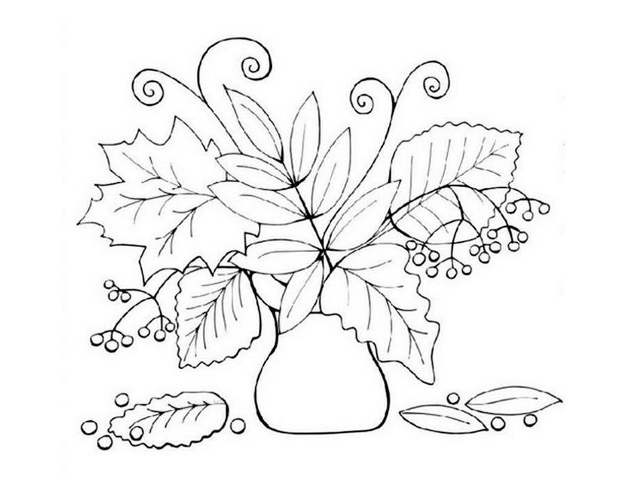 Черно белые картинки на тему осень для детей (9)