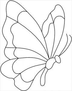 Шаблон крыльев бабочек 018