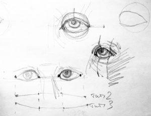 академический рисунок глаза 007