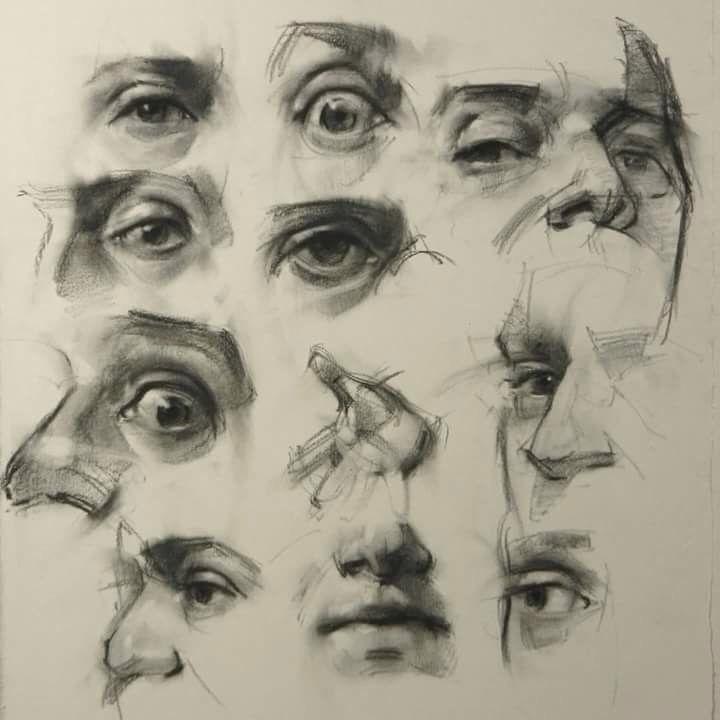 академический рисунок глаза 008