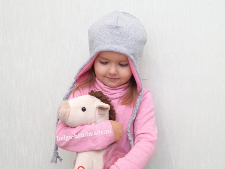 вязаная шапочка для девочки своими руками 003