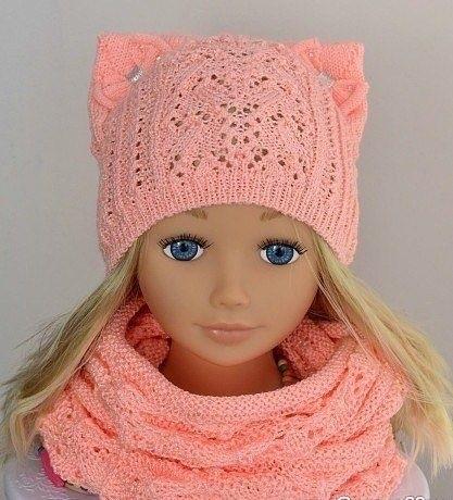 вязаная шапочка для девочки своими руками 006