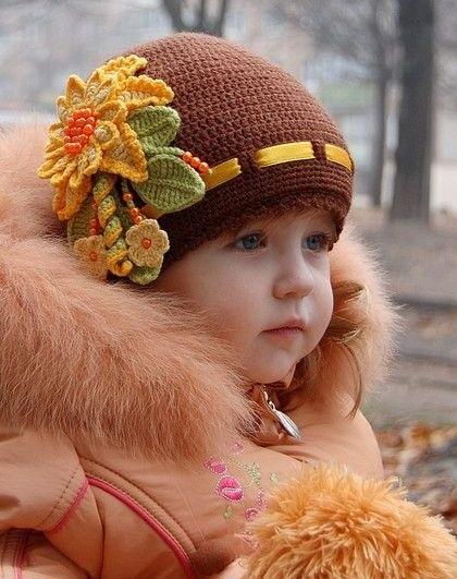 вязаная шапочка для девочки своими руками 008