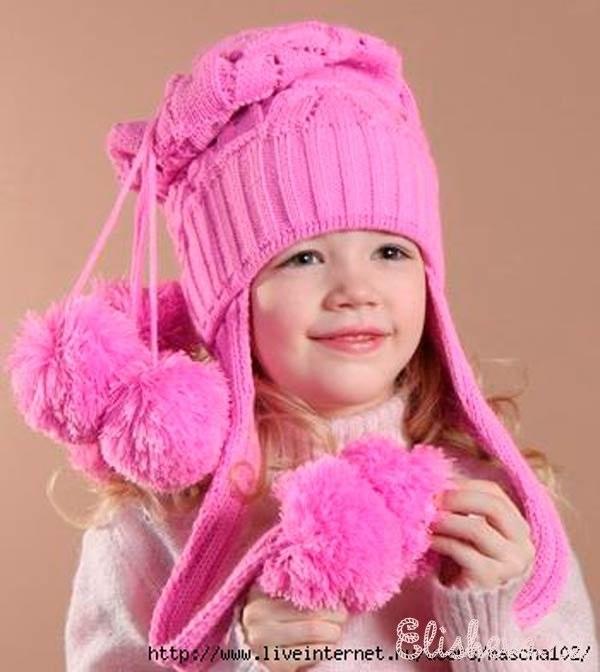 вязаная шапочка для девочки своими руками 010