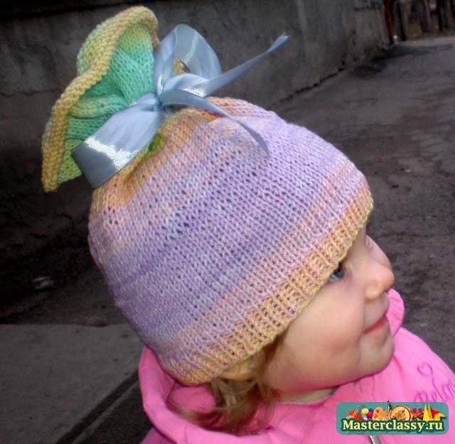 вязаная шапочка для девочки своими руками 011
